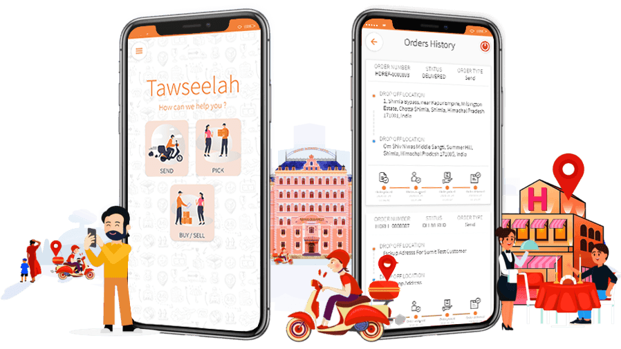 Tawseelah Hyperlocal Delivery System